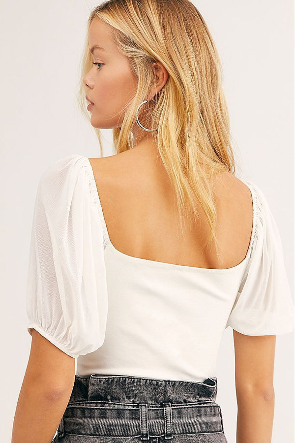 Puff Sleeve Cami in Ivory