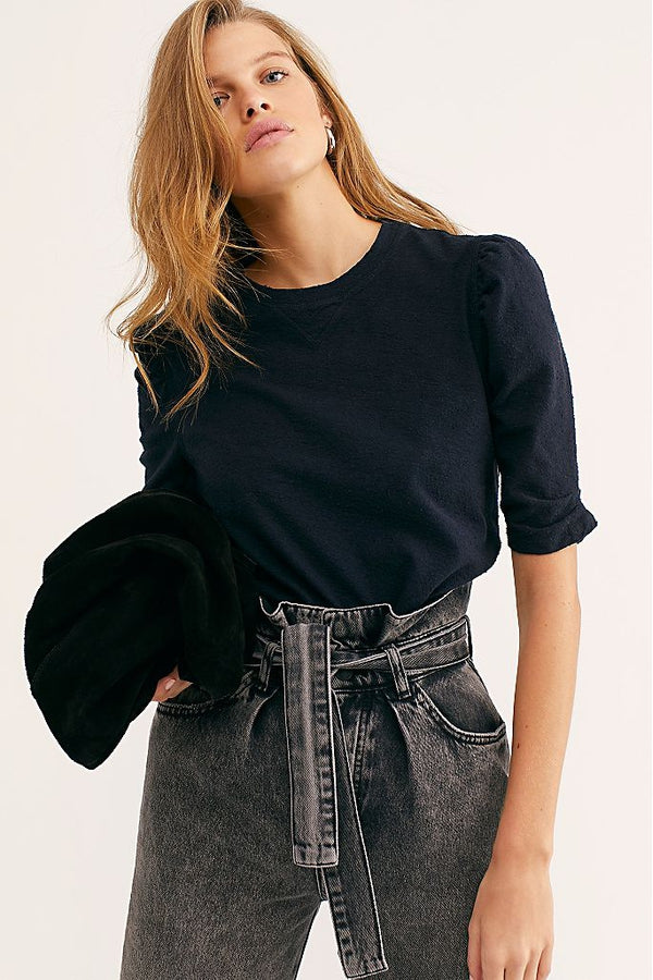 Just a Puff Top in Black
