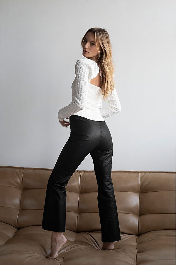 Sasha Vegan Kick Flare Pants