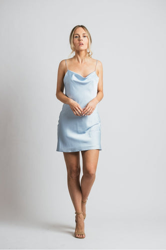 Pre-Order Hemline Exclusive Frida Dress in Light Blue