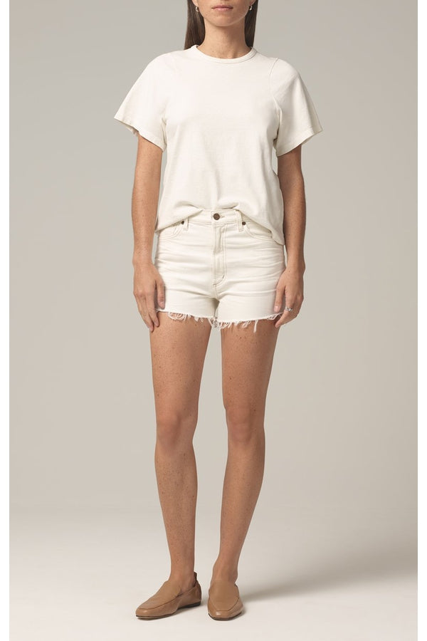 Kristen High Rise Short in Ivory Coast