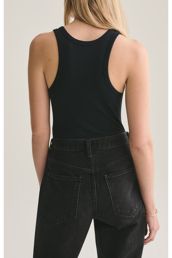 RIb Tank Body Suit in Black