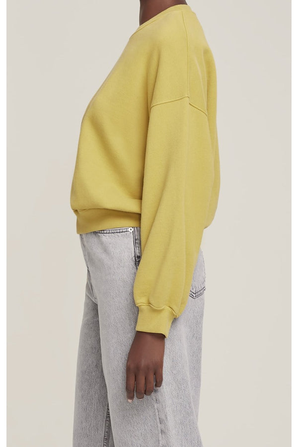 Balloon Sleeve Sweatshirt in Split Pea
