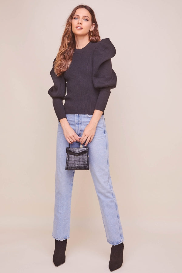 Elina Puff Sleeve Sweater
