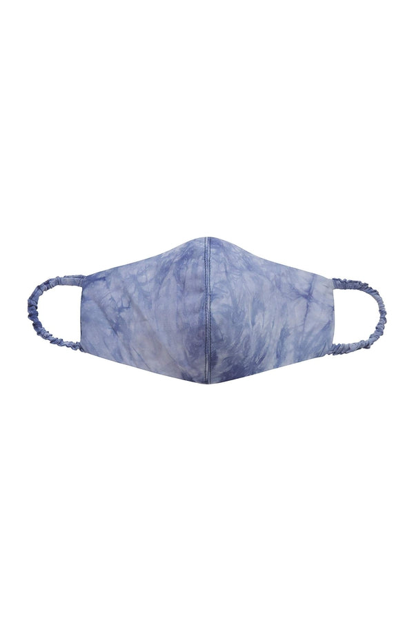 Tie-Dye Face Mask in Blue Wave