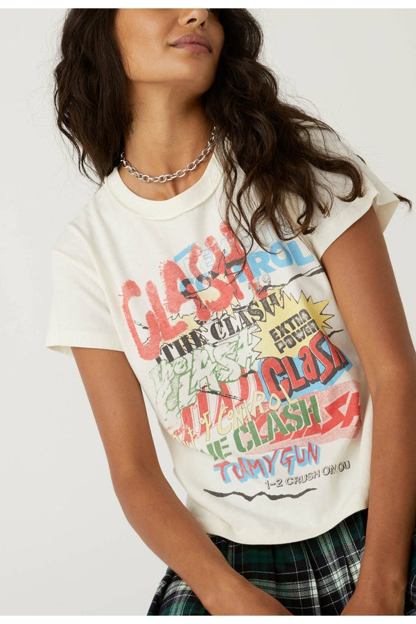 The Clash Collage Reverse Girlfriend Tee