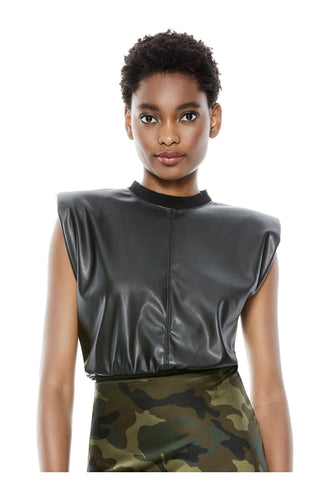 Kendrick Vegan Leather Crop Top
