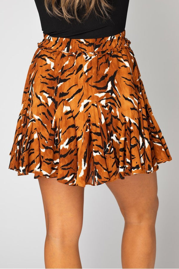 Presley Ruffled Mini Skirt in Raja
