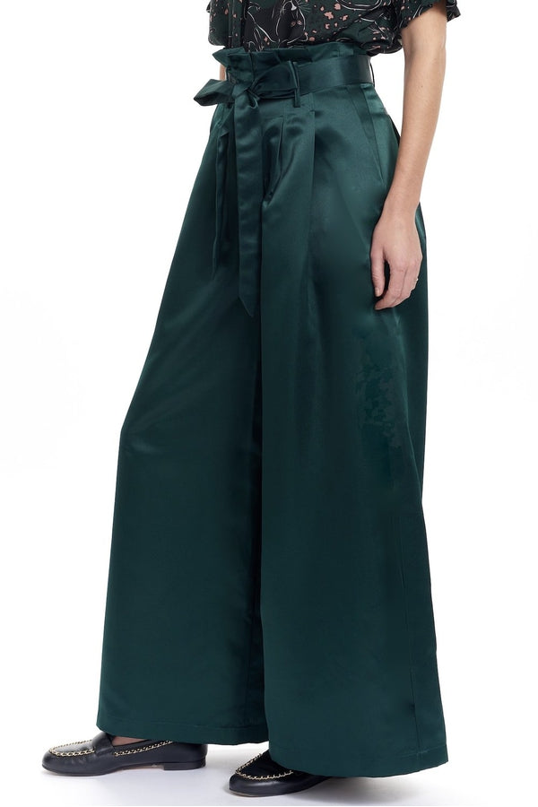 Toney Paperbag Waist Pant in Pine