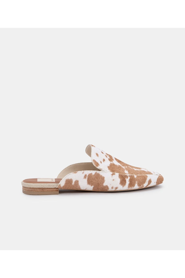 Halee Flats in Tan Taurus Calf Hair