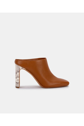 Kirra Mules in LT Luggage Leather