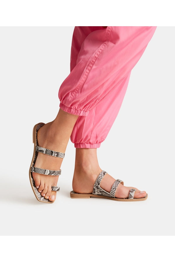 Isala Sandal in Shadow Snake Print