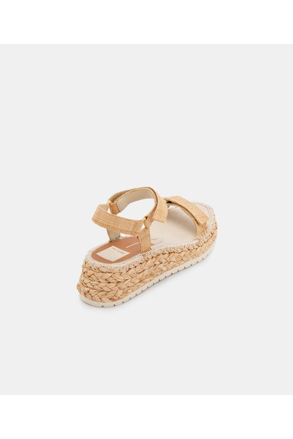 Myra Sandal in LT Natural Raffia