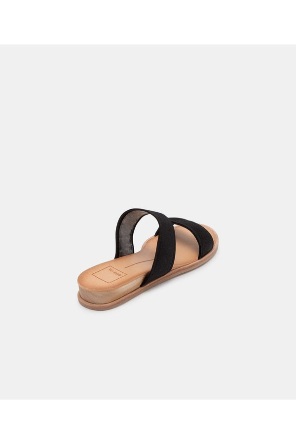 Payce Sandals in Black Elastic