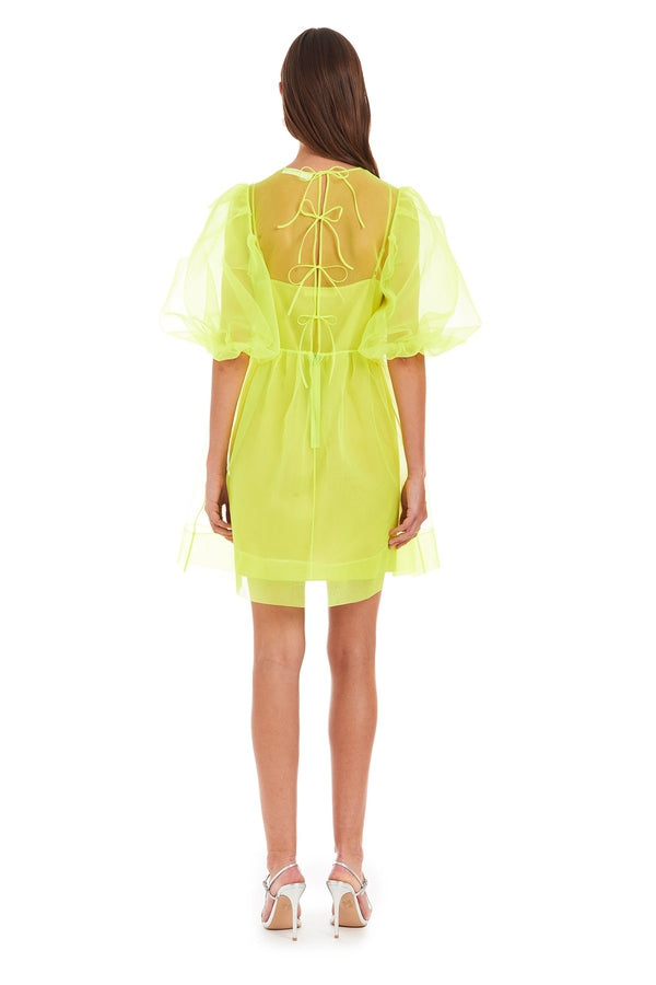 Diem Mini Dress in Lime