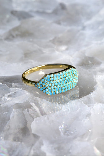ID Tag Ring with Turquoise