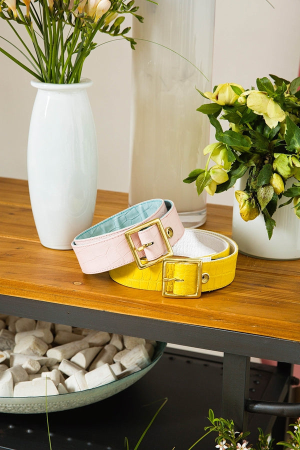 Exclusive Cori Reversible Belt in Pink/Blue