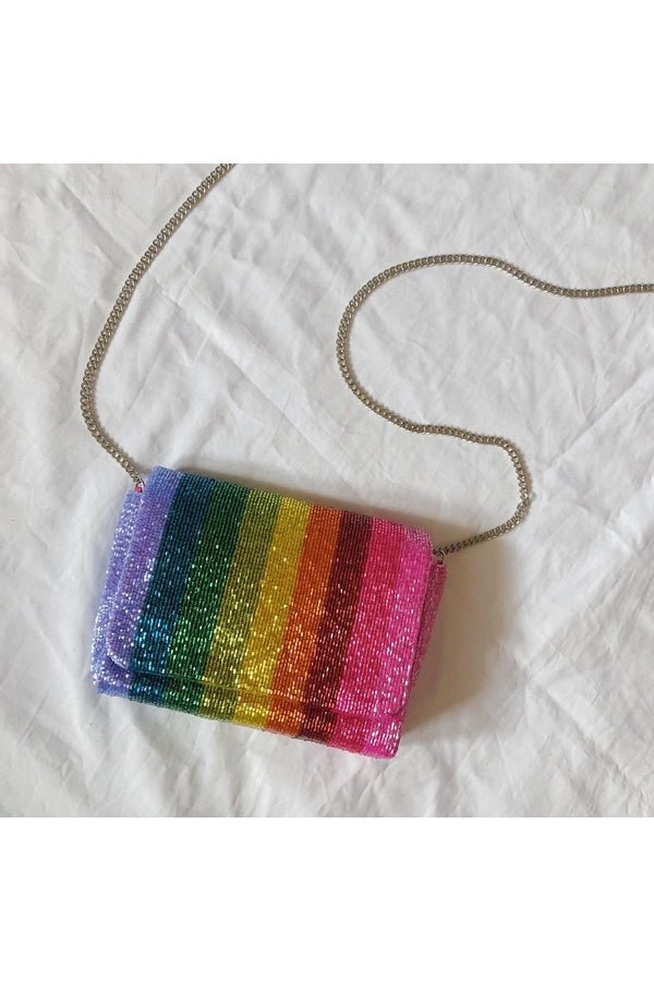 Rainbow Box Bag with Chain - HEMLINE
