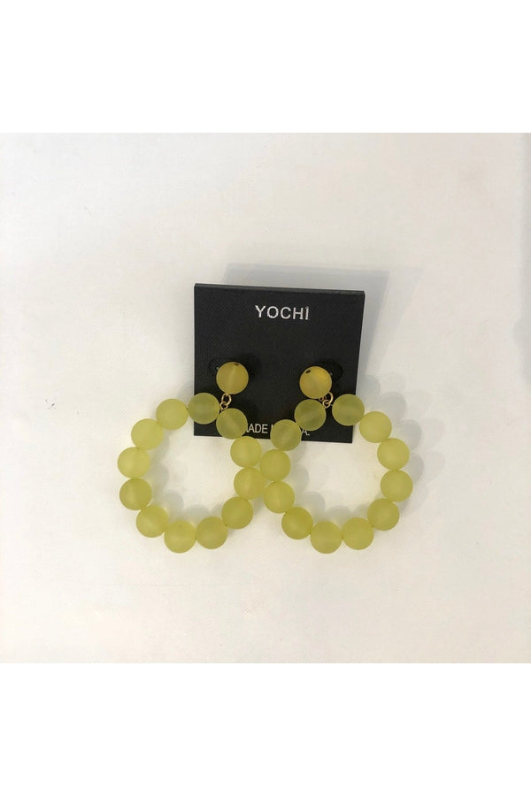 Yellow Bead Hoops