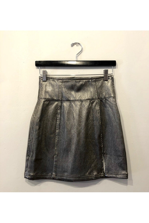 Holding Onto A Dream Mini Skirt in Silver