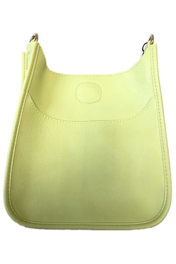 Soft Faux Leather Messenger Bag NO STRAP in Lime