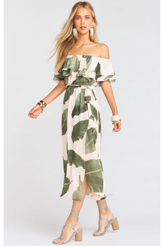 Rosie Dress In Queen Palms