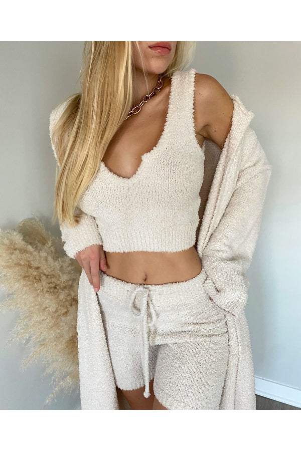 Mid Length Sweater Short
