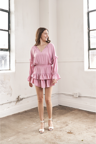 Amalya Dress in Pink - HEMLINE