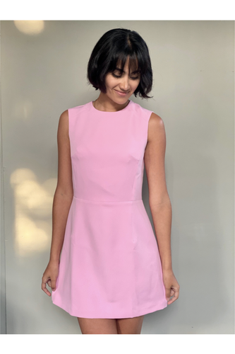 Hemline Exclusive Tulip Dress in Pink