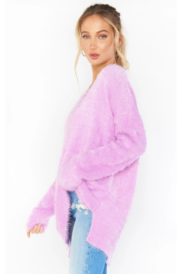 Cozy Forever Sweater in Pretty Pink Knit
