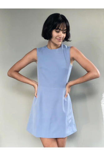 Hemline Exclusive Tulip Dress in Blue