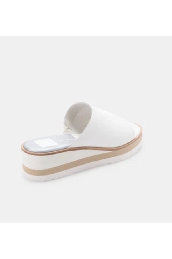 Freta Wedges in White Leather
