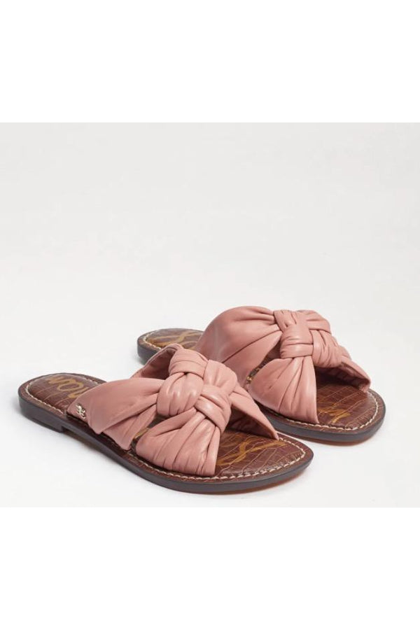 Garson Knotted Slide Sandal in Calirose