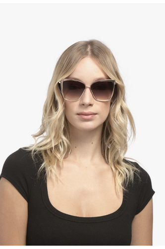 Becky Sunglasses in Gold + Flash Brown Gradient