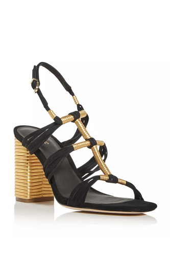 Odell Strappy High Block-Heel Sandals - HEMLINE