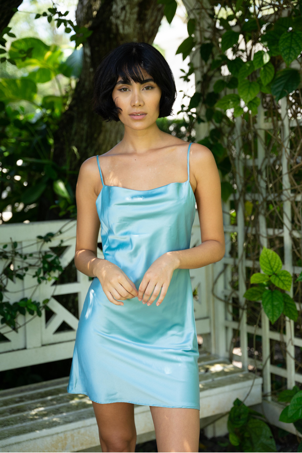 Hemline Exclusive Frida Dress in Seafoam
