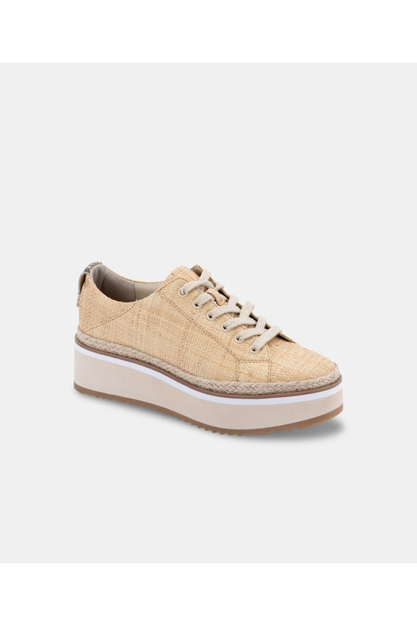 Tinley Sneaker in Lt Natural Raffia