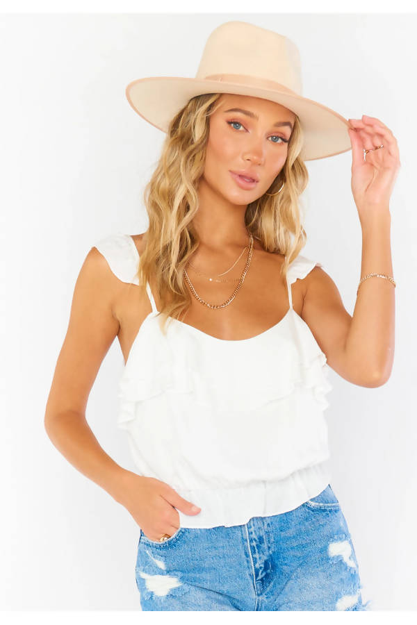 Sky Line Top in White