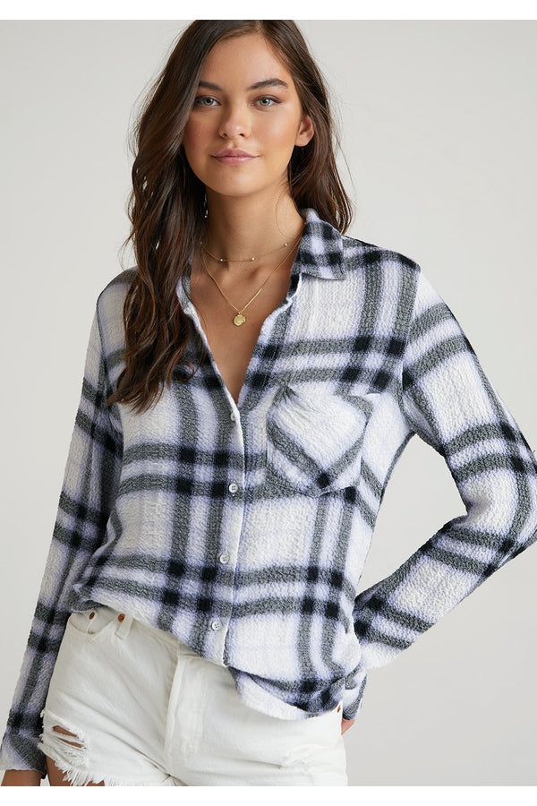 Pocket Button Down in White Plaid