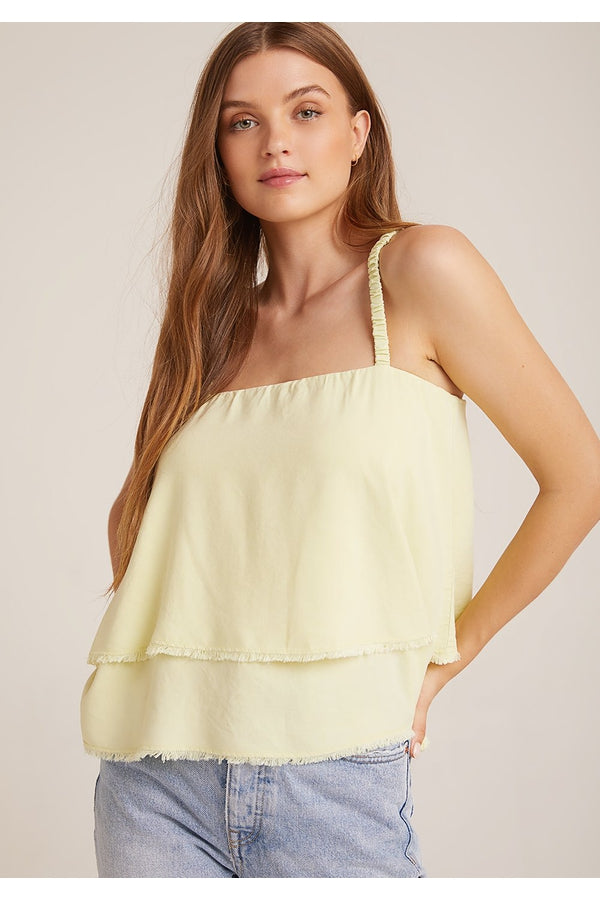 Scrunchy Strap Tank in Yellow