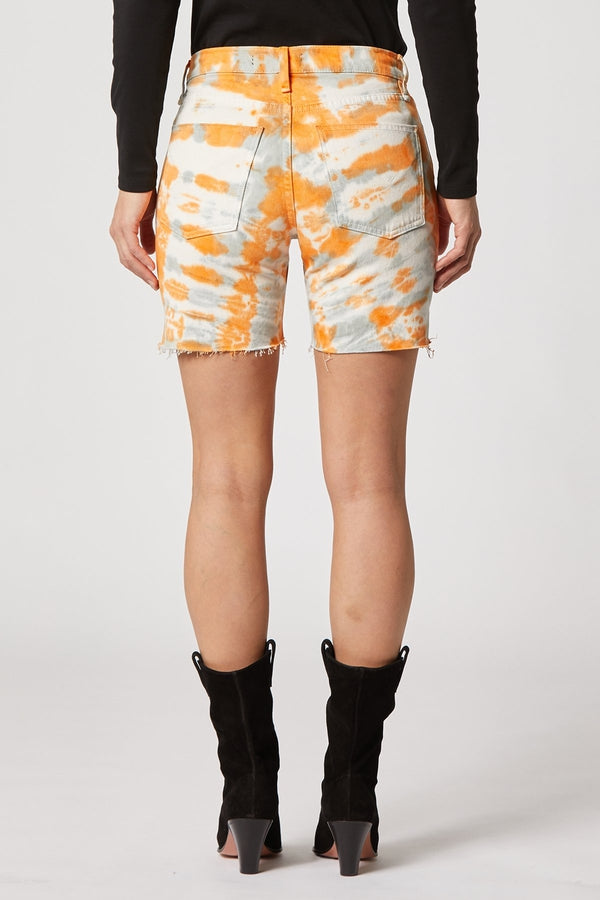 Hana Biker Short in Magnetic Tangerine