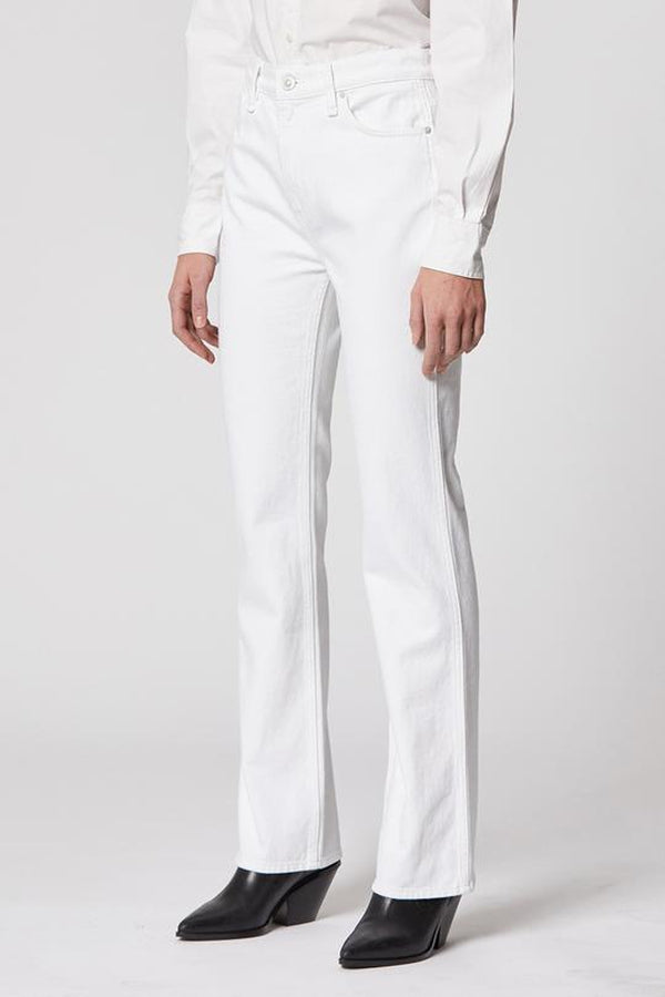 Abbey High-Rise Bootcut Jean in White