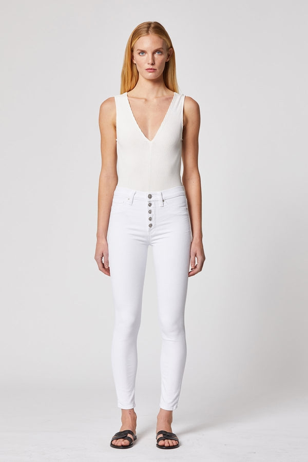 Barbara High-Rise Super Skinny Ankle Jean in White