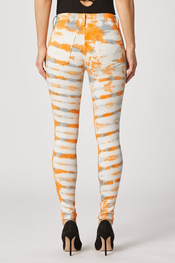 Barbara High-Rise Super Skinny Ankle Jean in Magnetic Tangerine