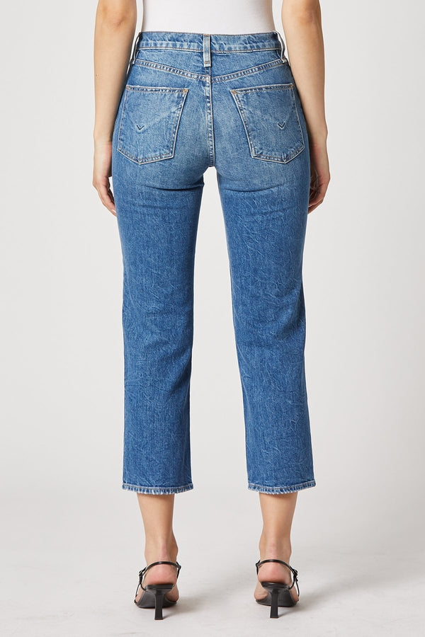 Remi High-Rise Straight Cropped Jean in Lullaby