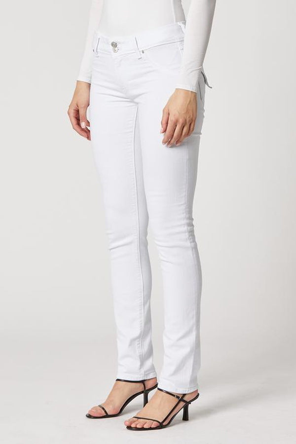 Collin Mid-Rise Skinny in White