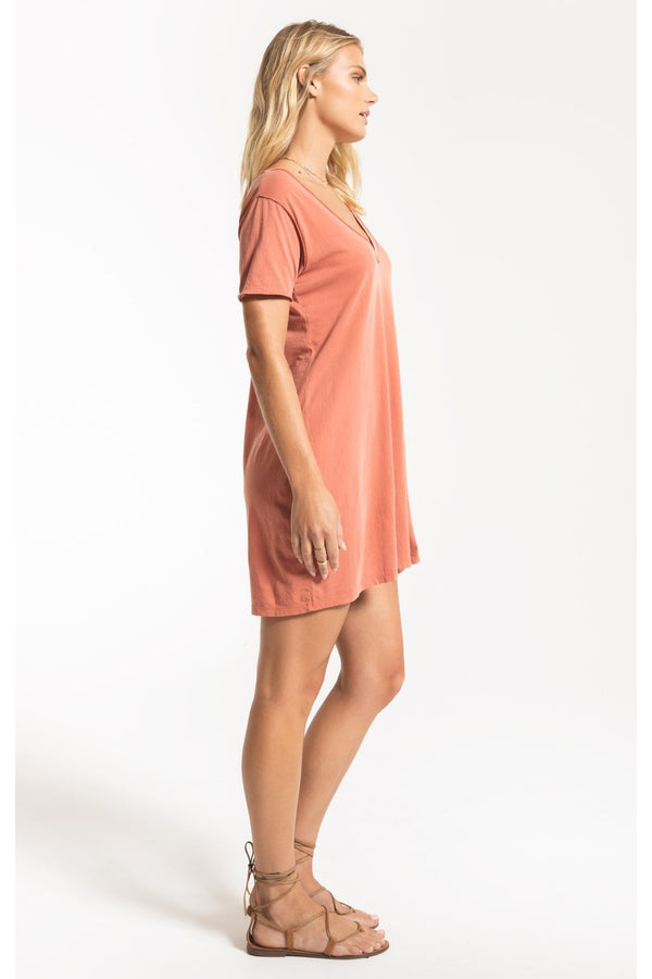 Organic Cotton T-Shirt Dress in Desert Sand