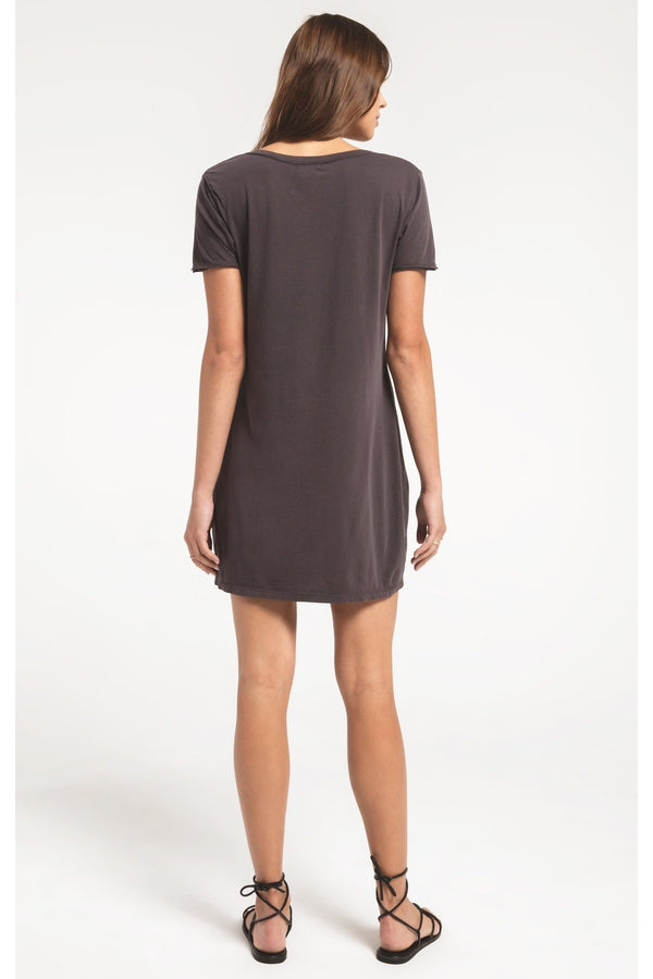 Organic Cotton T-Shirt Dress in Graphite