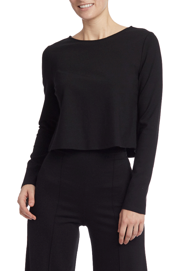 Load image into Gallery viewer, Black Long Sleeve Shirt - HEMLINE