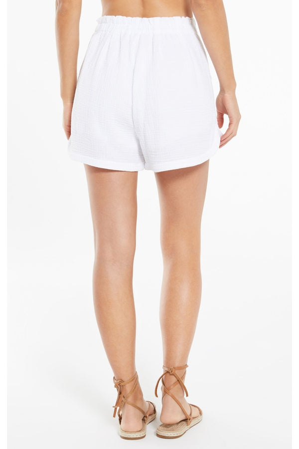 Acres Gauze Short in White
